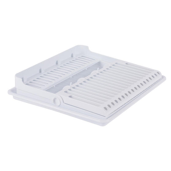 Beldray Folding Dish Drainer with Tray, 37 x 33 x 21 cm, White Thumbnail 2