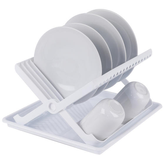 Beldray Folding Dish Drainer with Tray, 37 x 33 x 21 cm, White Thumbnail 3