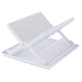 Beldray LA057334 Folding Dish Drainer with Tray, 37 x 33 x 21 cm, White Thumbnail 1