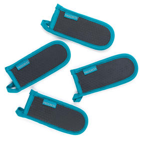 Progress Set of 4 Neoprene Pan Handle Sleeve Covers, Teal