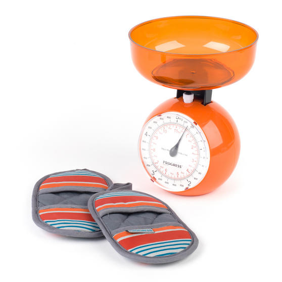 Progress Performance New England Baking Oven Micromitts with Orange 5 KG Kitchen Scales