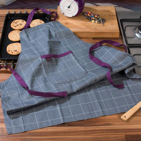 Progress COMBO-3311 Performance Ombre Chef Apron and Double Oven Baking Glove with 5 kg Kitchen Scales, Purple Thumbnail 4