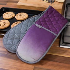 Progress COMBO-3311 Performance Ombre Chef Apron and Double Oven Baking Glove with 5 kg Kitchen Scales, Purple Thumbnail 5
