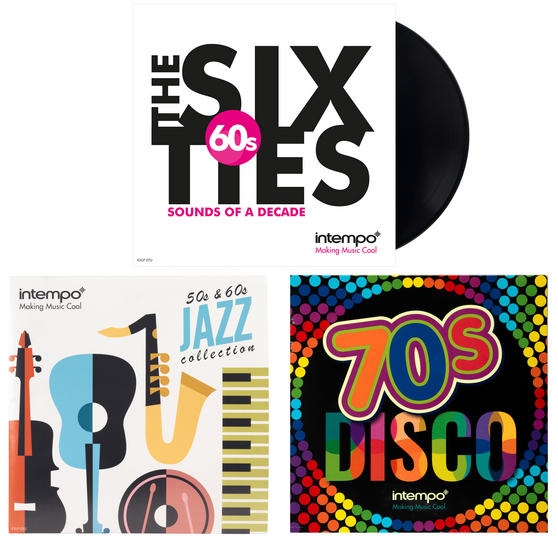 Intempo 50s, 60s and 70s Vinyl LP Bundle Pack