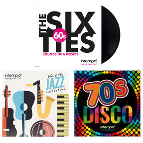 Intempo 50s, 60s and 70s Vinyl LP Bundle Pack COMBO-3452