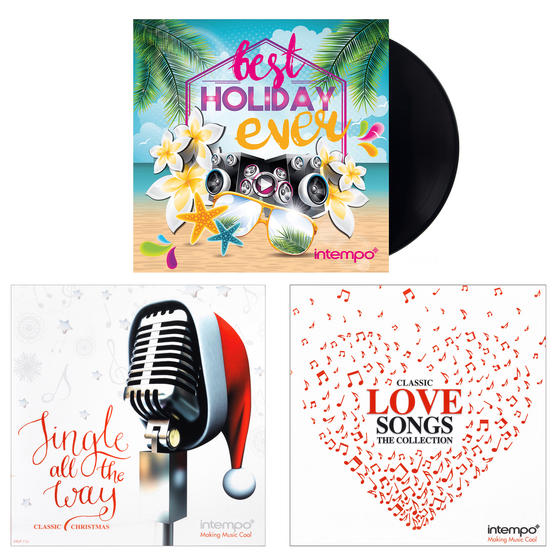 Intempo Christmas, Love Songs and Summer Holiday Collections, 3 x Remastered 12 Inch Vinyl LP Bundle ? COMBO-3453