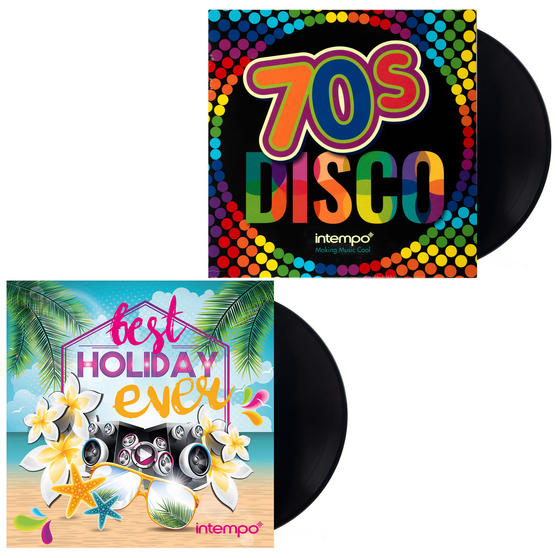 Best Holiday Ever and 70s Disco, Two Remastered 12 Inch Vinyl LP Bundle
