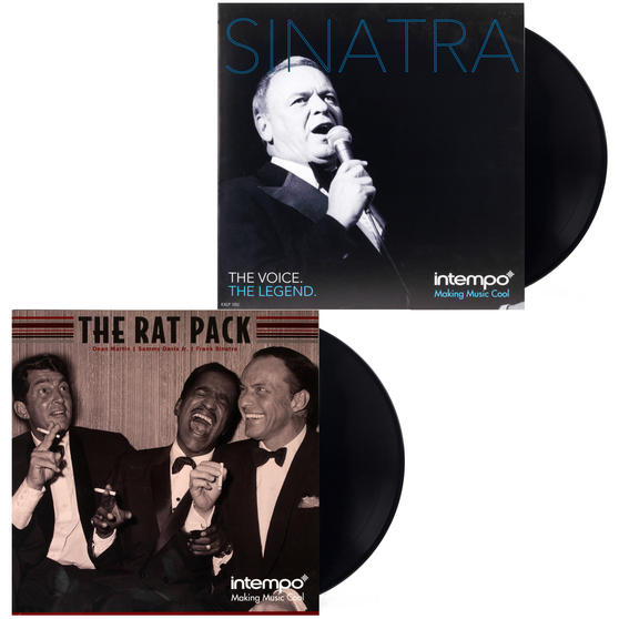 The Rat Pack and Frank Sinatra Collection, Two Remastered 12 Inch Vinyl LP Bundle COMBO-3456