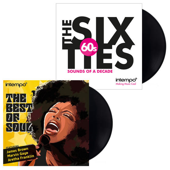 The Best of Soul and The Sixties: Sounds of a Decade, Two Remastered 12 Inch Vinyl LP Bundle COMBO-3457