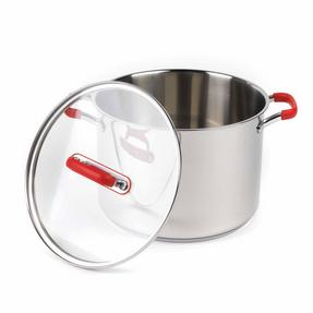 Pyrex COMBO-3400 Passion Casserole Dishes and Stockpot with Lids, 3 Piece Set, Stainless Steel Thumbnail 6