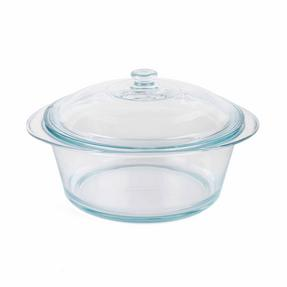 Pyrex COMBO-3402 Round 3.5 L Casserole Dishes With Lids, Set of 2, Clear Glass Thumbnail 5