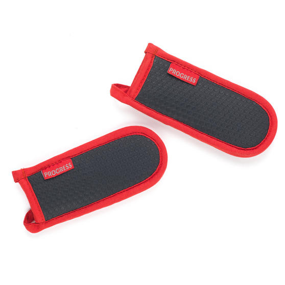 Progress Set of 2 Neoprene Pan Handle Sleeve Covers, Red