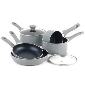 Salter COMBO-3478 Crystalstone 7-Piece Non-Stick Saucepan, Milk Pan, Frying Pan and Wok Set ? Grey Thumbnail 3