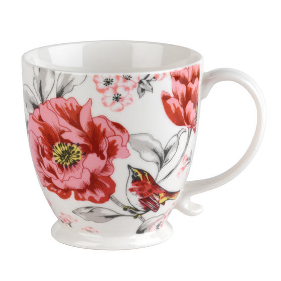 Cambridge CM05447 Kensington Olivia Bright Fine China Mug, Set of 2