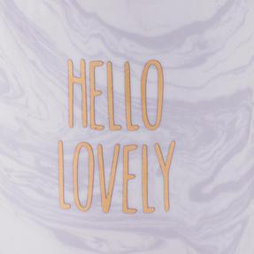 Portobello COMBO-3513 Hello Lovely Mugs, Pastel Purple, Set of 8 Thumbnail 4