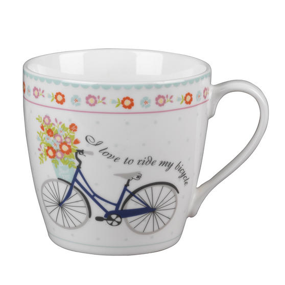 Cambridge CM04693AZ Harrogate Floral Bike Fine China Mug Set of 2
