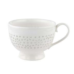 Cambridge CM05185 Charlotte Sandringham Lace Porcelain China Footed Mugs, Set of 2 Thumbnail 1