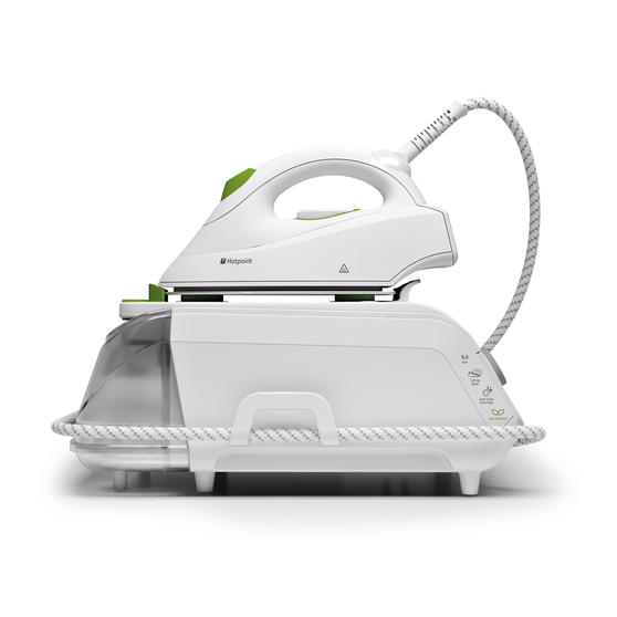 Hotpoint F087646 MyLine SG C11 CKG Steam Generator Iron, 2100 W, White/Green