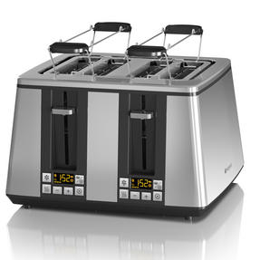 Hotpoint F093764 Ultimate Collection Four Slice Toaster, Chrome Thumbnail 2