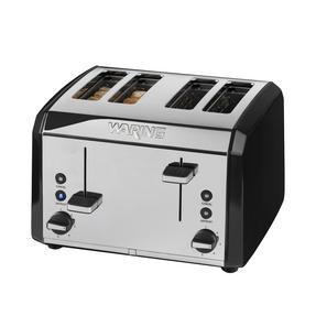 Waring WT400BKU Four Slice Toaster, 2000 W, Stainless Steel, Black