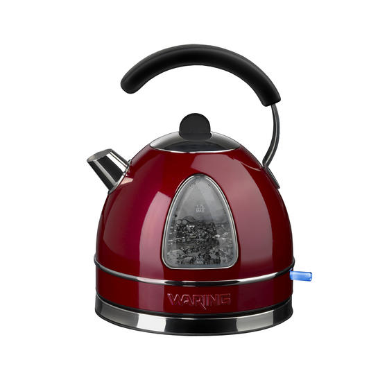 Waring WTK17RU Traditional Kettle, 1.7 L, 3000 W, Red