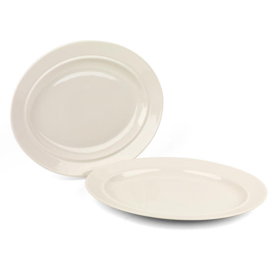 Alessi La Bella Tavola Porcelain Oval Serving Or Dessert Platters