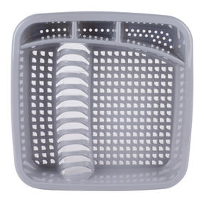 Beldray LA057358GREYEU Plastic Dish Drainer with Cutlery Rack, Grey Thumbnail 3