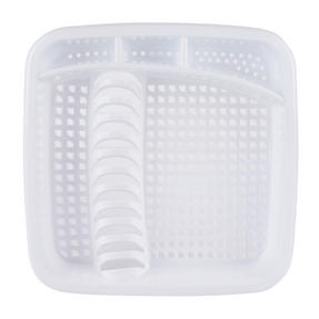 Beldray LA057358WHITEEU Plastic Dish Drainer with Cutlery Rack, White Thumbnail 3