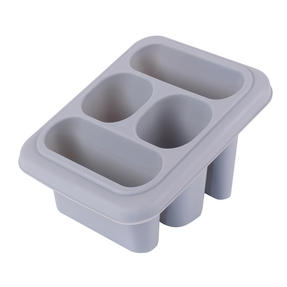 Beldray LA057389GREYEU Plastic Cutlery Drainer with Four Compartments, 18 x 16 x 12 cm, Grey Thumbnail 2