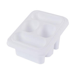 Beldray LA057389WHITEEU Plastic Cutlery Drainer with Four Compartments, 18 x 16 x 12 cm, White Thumbnail 2