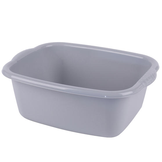 Beldray LA057396GREYEU Rectangular Washing Up Bowl, 10 L, Grey