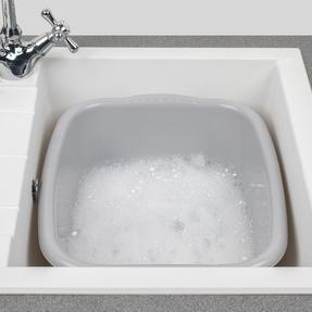 Beldray LA057396GREYEU Rectangular Washing Up Bowl, 10 L, Grey Thumbnail 4
