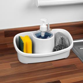 Beldray LA057419WHITEEU Premium Storage Caddy with Soap Dispenser, White Thumbnail 2
