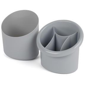 Beldray LA057433GREYEU Plastic 2-in-1 Cutlery Drainer and Holder, Grey Thumbnail 2