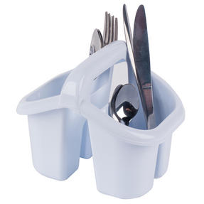 Beldray LA057457WHITEEU Four Compartment Cutlery Drainer, White