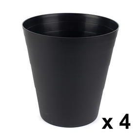 Beldray COMBO-3636 Office Bin Waste Paper Basket, Set of 4, Black