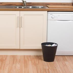 Beldray COMBO-3637 Office Bin Waste Paper Basket, Set of 6, Black Thumbnail 4