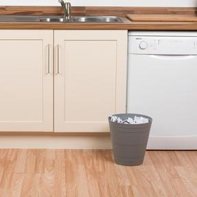 Beldray COMBO-3643 Office Bin Waste Paper Basket, Set of 8, Grey Thumbnail 4