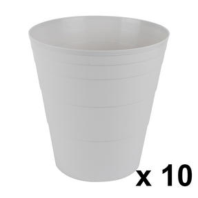 Beldray COMBO-3644 Office Bin Waste Paper Basket, Set of 10, Grey Thumbnail 1