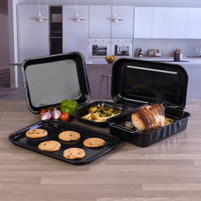 Russell Hobbs COMBO-3162 Romano Vitreous Enamel Roaster, Rack, Baking Tray and Chop Tray Set, 6 Piece Thumbnail 4