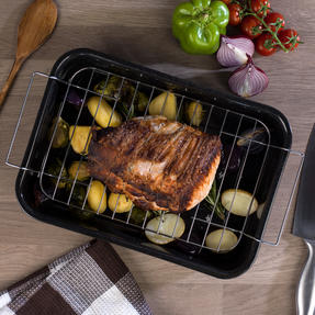 Russell Hobbs COMBO-3162 Romano Vitreous Enamel Roaster, Rack, Baking Tray and Chop Tray Set, 6 Piece Thumbnail 8