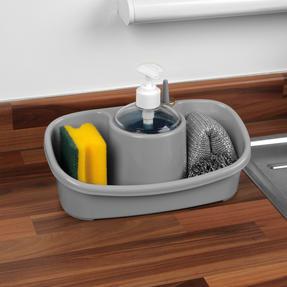 Beldray LA057419GREYEU Premium Storage Caddy with Soap Dispenser, Grey Thumbnail 2