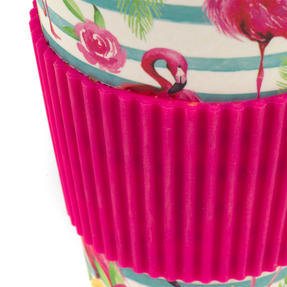 Cambridge CM05775 Flamingo Floral Bamboo Eco Travel Mug, Set of 2 Thumbnail 3