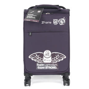 "ZFrame 18"" Small 4 Double Wheel Super Lightweight Cabin Suitcase, 1.98 kg, 30 Litre, Purple, 10 Year Warranty Thumbnail 2"