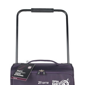 "ZFrame 18"" Small 4 Double Wheel Super Lightweight Cabin Suitcase, 1.98 kg, 30 Litre, Purple, 10 Year Warranty Thumbnail 4"