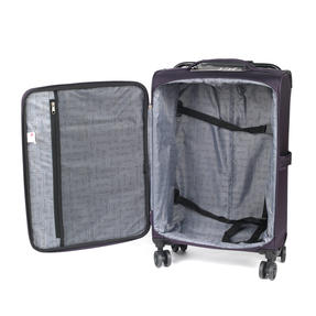 "ZFrame 18"" Small 4 Double Wheel Super Lightweight Cabin Suitcase, 1.98 kg, 30 Litre, Purple, 10 Year Warranty Thumbnail 5"