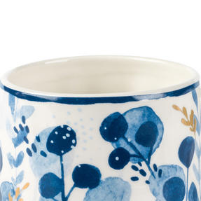 Portobello CM06057 Irena Gold Tank Mugs, Blue and Gold, Set of 4 Thumbnail 2