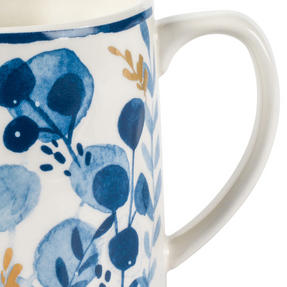 Portobello CM06057 Irena Gold Tank Mugs, Blue and Gold, Set of 6 Thumbnail 3