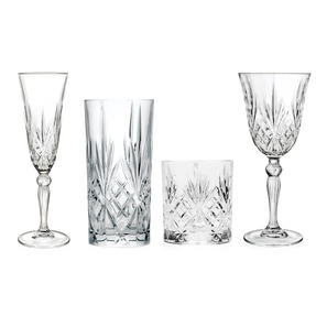 RCR COMBO-3663 Melodia Luxion Crystal Drinkware Collection with Vases and Bowl, 51 Piece Thumbnail 6