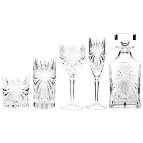 RCR COMBO-3668 Oasis Luxion Crystal Drinkware Collection with Decanter, 25 Piece Thumbnail 2